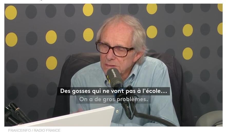 Đạo diễn người Anh Ken Loach trả lời phỏng vấn kênh truyền hình Franceinfo ngày 22/10/2019.