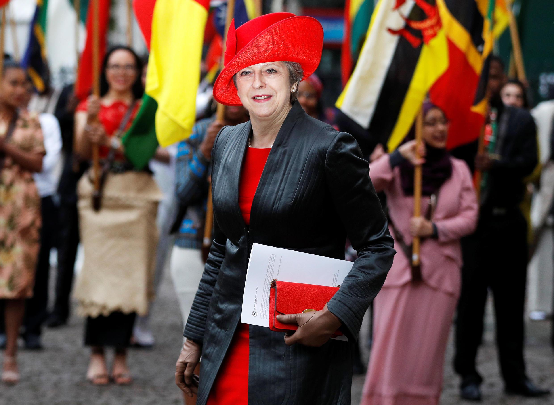 A premiê britânica Theresa May em Londres, 12 de março de 2018.