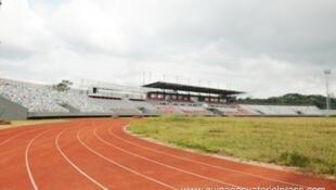 Le stade d'Ebebiyin, en août 2014.