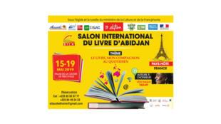 Affiche du salon international du livre d'Abdijan.