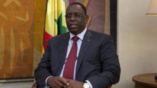 Le chef de l'Etat sénégalais, Macky Sall à Dakar.