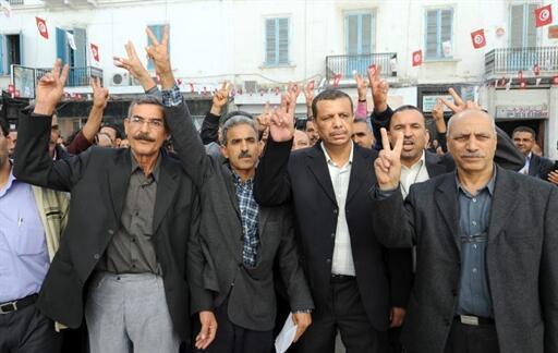 Les syndicalistes du bassin minier de Gafsa libérés, le 5 novembre 2009.
