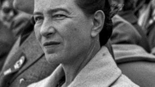 1955年10月1日在天安门的波伏娃