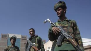 Йеменские полицейские в столице Сане
