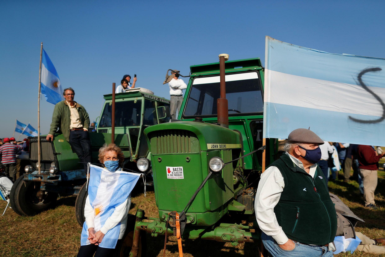 Argentine - San Nicolas - manifestation - agriculteurs