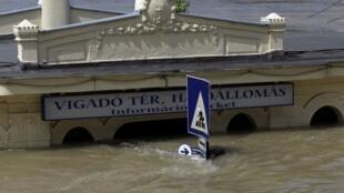 Budapest và trận lũ 2013. Ảnh chụp ngày 10/06/2013
