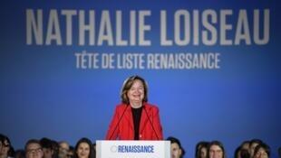 Nathalie Loiseau en meeting à Caen, le 6 mai 2019.