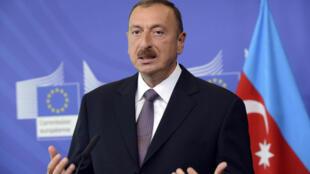 Le président d'AzerbaÏdjan Ilham Aliyev, ici à Bruxelles, le 21 juin 2013.