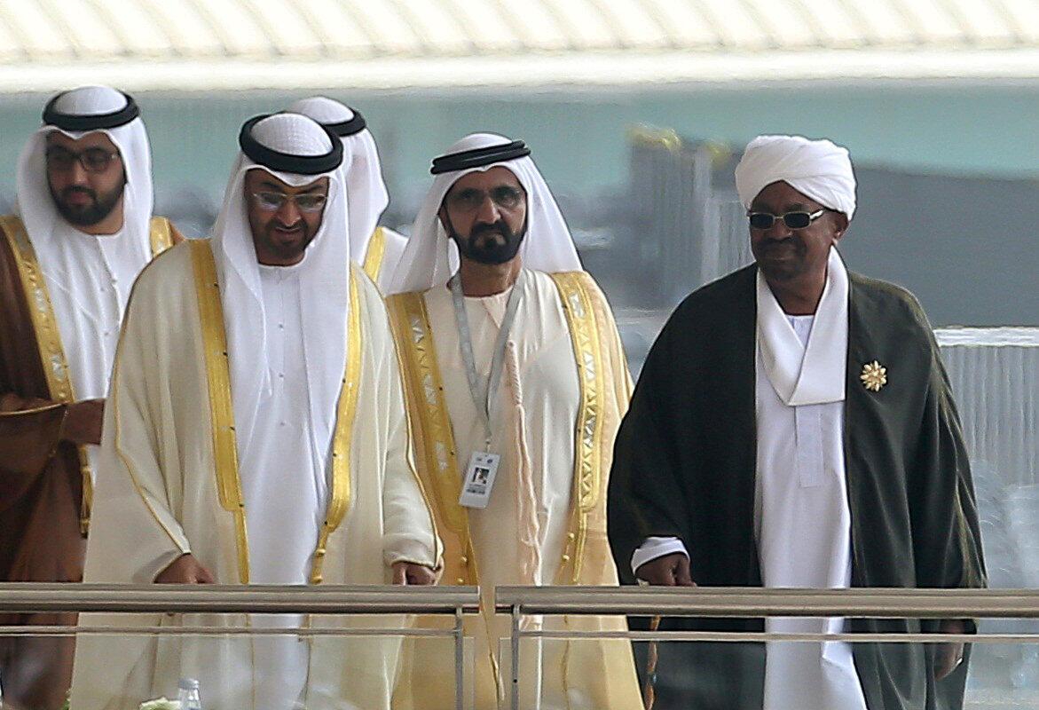 Shugaban kasar Sudan Omar El Bechir a wani taron kasashen Larabawa a Abou Da