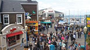 O famoso Pier 39, ponto turístico de São Francisco, nos Estados Unidos.
