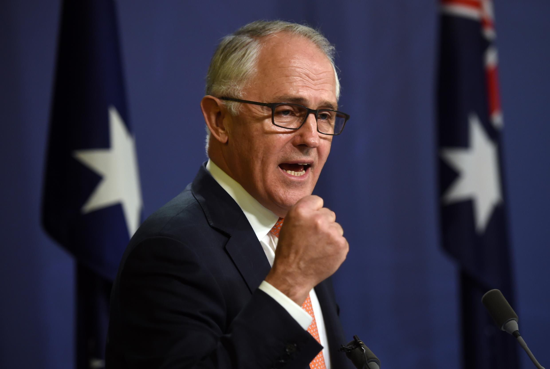 លោក Malcolm Turnbull នាយករដ្ឋមន្រ្តីអូស្រ្តាលី ក្នុងអំឡុងសន្និសីទសារព័ត៌មាន ថ្ងៃទី១០ កក្កដា ២០១៦ កន្លងទៅ