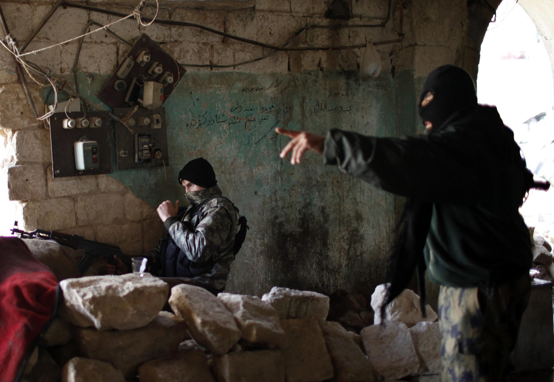 Combattants du groupe rebelle syrien lié à al-Qaïda, le Front al-Nosra.