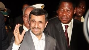 Mahmoud Ahmadinejad and Benin's President Thomas Boni Yayi