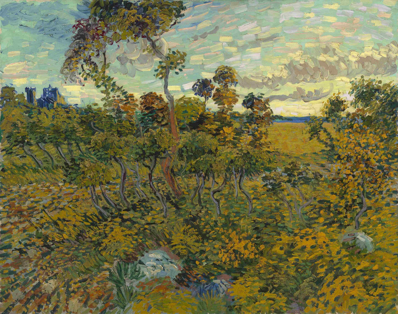 "Bức tranh ""Sunset at Montmajour"" do Van Gogh vẽ vào khoảng 1890 - Private collection/Handout via Reuters"