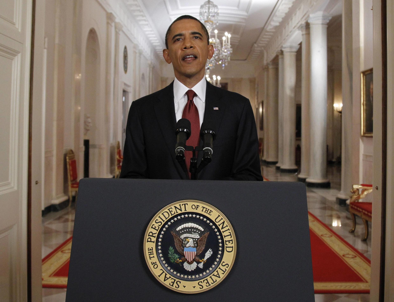Barack Obama akitangaza kifo cha Osama Bin laden