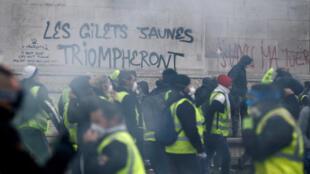 Gilets Jaunes protest, Paris,1st December 2018