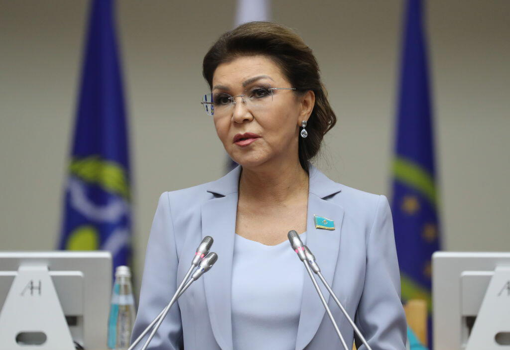 Dariga Nazarbayeva, présidente du Sénat au Kazakhstan, le 18 avril 2019.