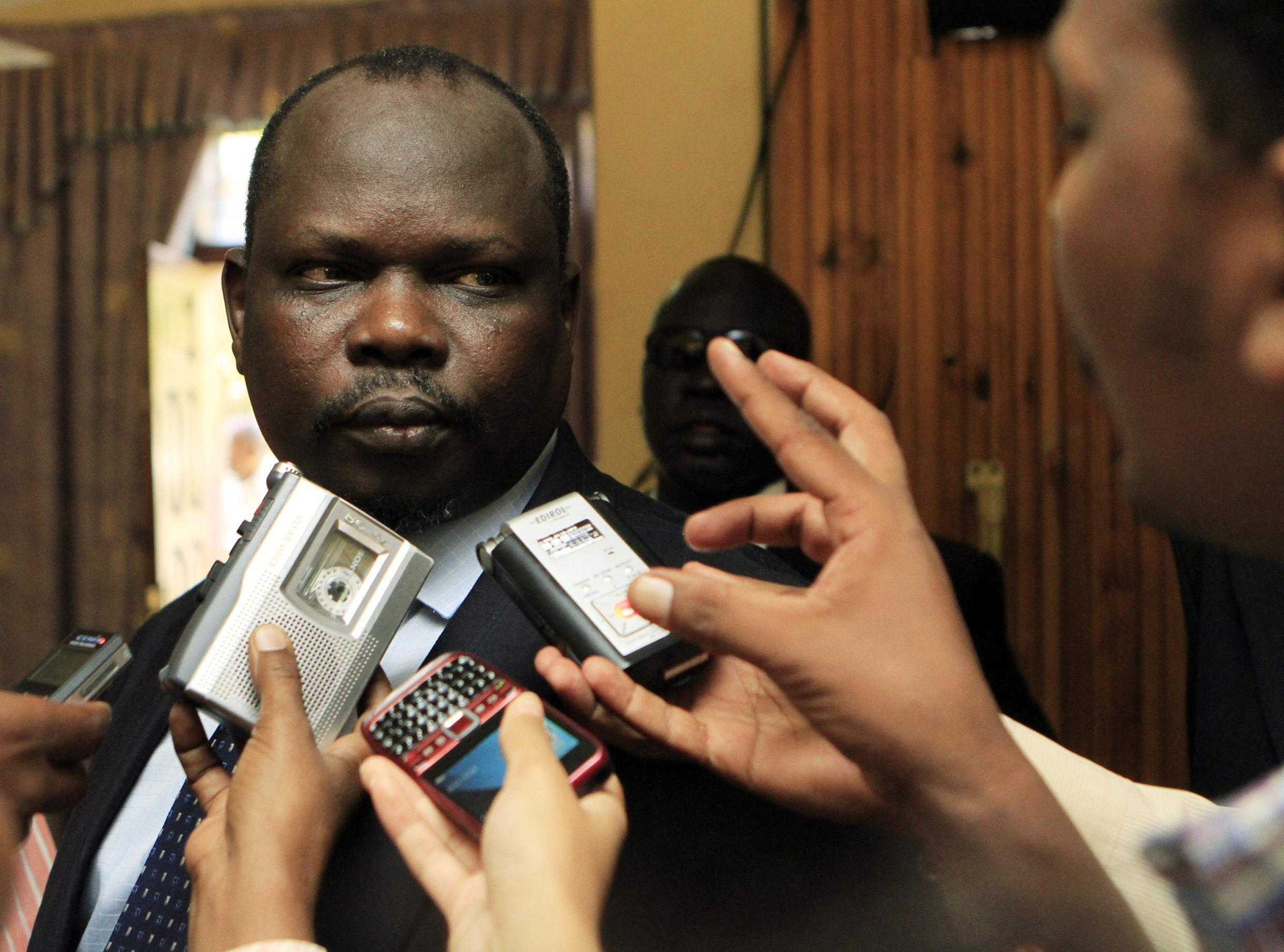 Pagan Amum had previously been accused of plotting a coup by President Salva Kiir's government
