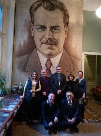 Французские ученые в Институте им. Вавилова в Петербурге.