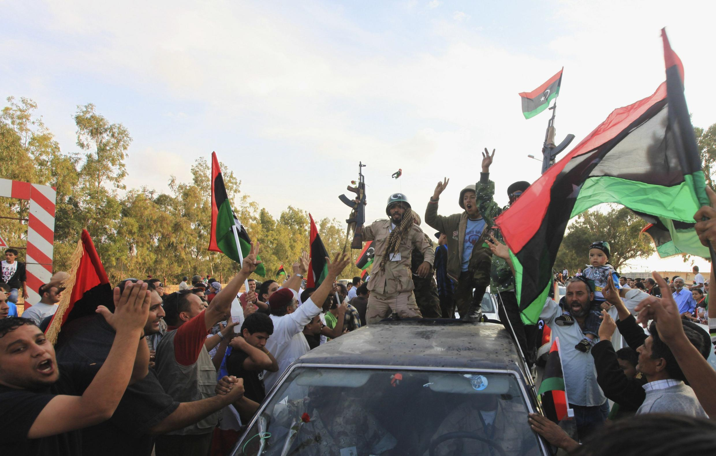 Fighters from Sirte arrive in Benghazi, where the liberation declaration takes place