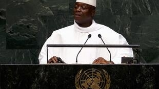 Yahya Jammeh at the UN headquarters in New York on 25 September, 2014