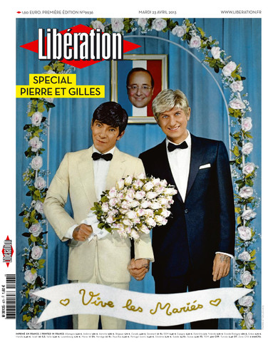 Today's front cover of left-wing Libération