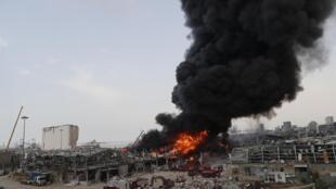 Un puissant incendie s'est déclaré ce jeudi 10 septembre sur le port de Beyrouth.
