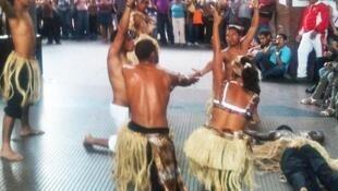 Danses africaines au coeur de Caracas au Vénézuela.