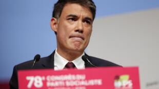 Le premier secrétaire du PS, Olivier Faure, lors du 78e congrès du parti en avril 2018.
