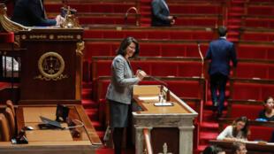 La ministre de la Solidarité et de la Santé Agnès Buzyn s'adresse à l'Assemblée Nationale pour introduire le débat sur la loi de bioéthique qui envisage notamment de donner le droit à la PMA à toutes les femmes.