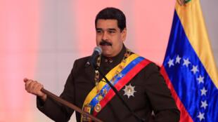 Nicolas Maduro Julai 17,2017, katika sherehe ya kitaifa mjini Caracas.