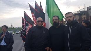 Movimiento neofascista Forza Nuova (FN Italia)