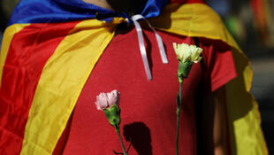 Manifestante defende separação da Catalunha