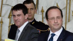 Manuel Valls, ici avec François Hollande à l'Elysée le 19 mars, a été nommé Premier ministre ce 31 mars.
