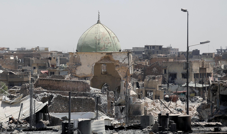 Quang cảnh khu phía tây thành phố cổ Mossoul, Irak. Ảnh chụp ngày 27/06/2017.