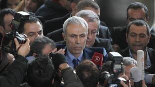 Mehmet Ali Agca après sa sortie de prison lundi 18 janvier 2010, à Ankara.