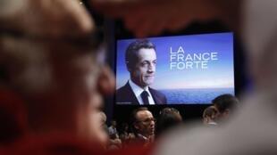 Meeting de Nicolas Sarkozy, le 27 mars à Saint-Herblain.