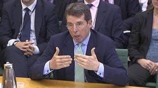 Bod Diamond presta depoimento no Parlamento inglês em Londres, nesta quarta-feira.