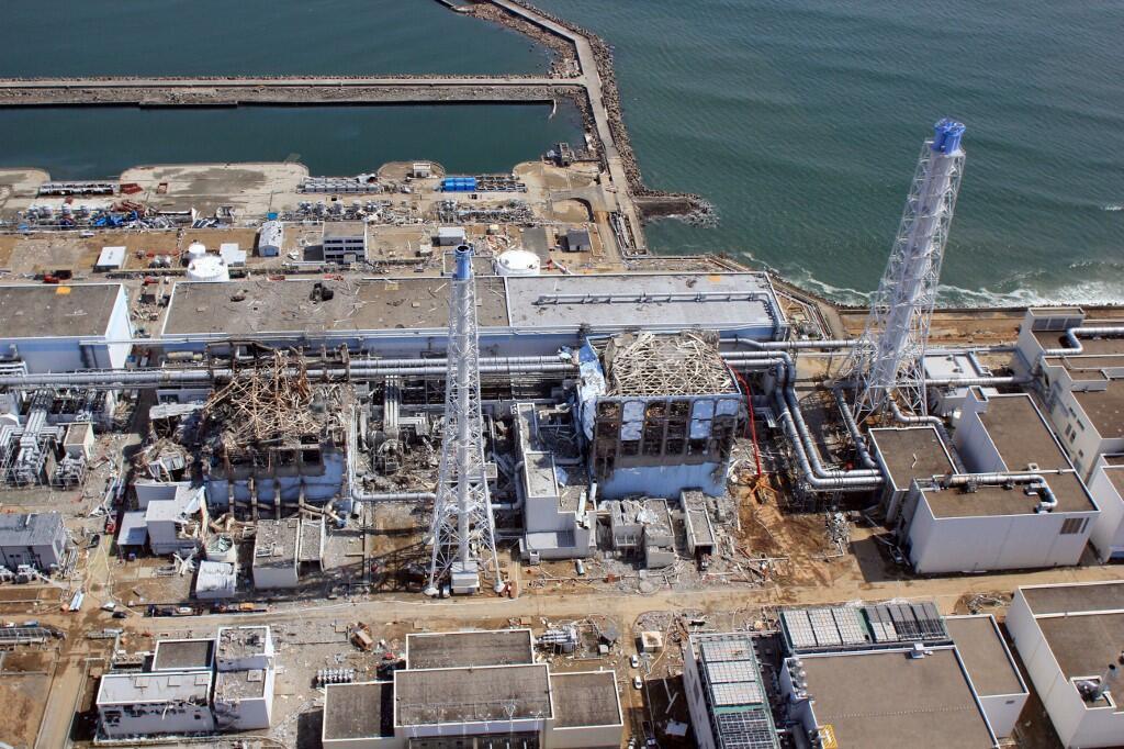 Fukushima aerial view 2011