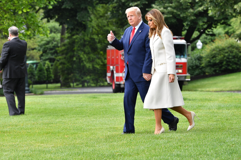 Tổng thống Mỹ Donald Trump và phu nhân Melania tại Nhà Trắng ngày 25/05/2020.