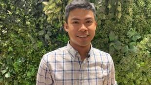 Lin Htet Naing: à 31 ans, ce Birman a déjà fait deux séjours en prison pour ses activités de militant, et est actuellement poursuivi en justice.