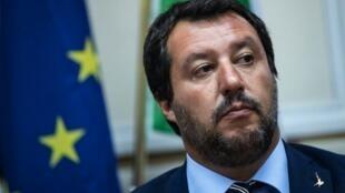Waziri wa Mambo ya Ndani wa Italia, Matteo Salvini, Milan Agosti 28, 2018.