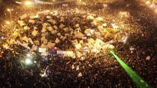 埃及首都開羅的示威人群