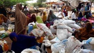 Un des marchés du camp de Dadaab.