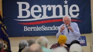 Bernie Sanders em campanha em Hooksett, em New Hampshire, em 30 de setembro de 2019.