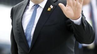 Президент Грузии Георгий Маргвелашвили в Варшаве на саммите НАТО, 8 июля 2016 г