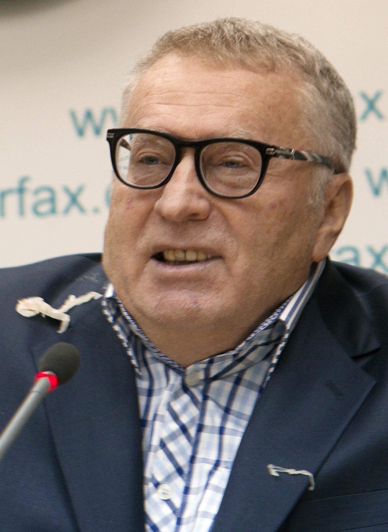 Лидер ЛДПР Владимир Жириновский на пресс-конференции в Киеве 28/01/2013