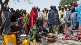 Selon l'ONU, l'attaque de Dikwa pourrait affecter l'aide humanitaire apportée à près de 100 000 personnes dans la région. (image d'illustration : un camp de déplacés internes à Dikwa, en février 2017).