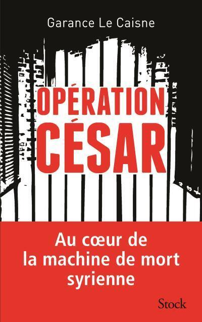 """Capa do livro """"Operação César"""", de Garance Le Caisne."""
