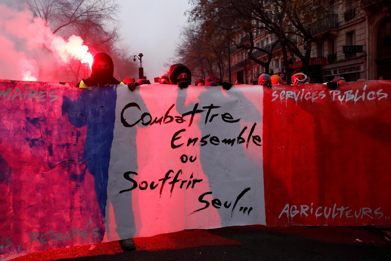 周四法國巴黎抗議遊行